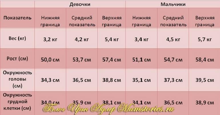 Таблица с рождением мальчиков и девочек